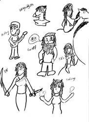 Deviants And Dragons Sketches 1 by mattwandcow