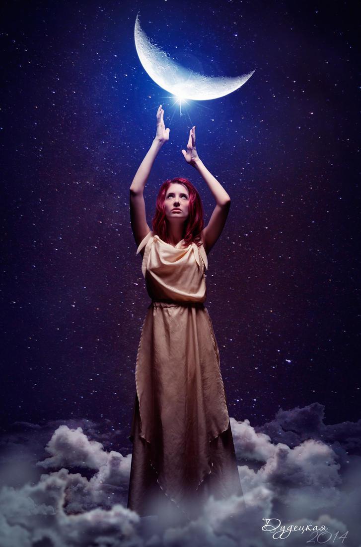 the moon by dudeckaya