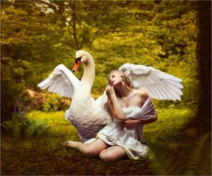 Leda and the Swan by dudeckaya