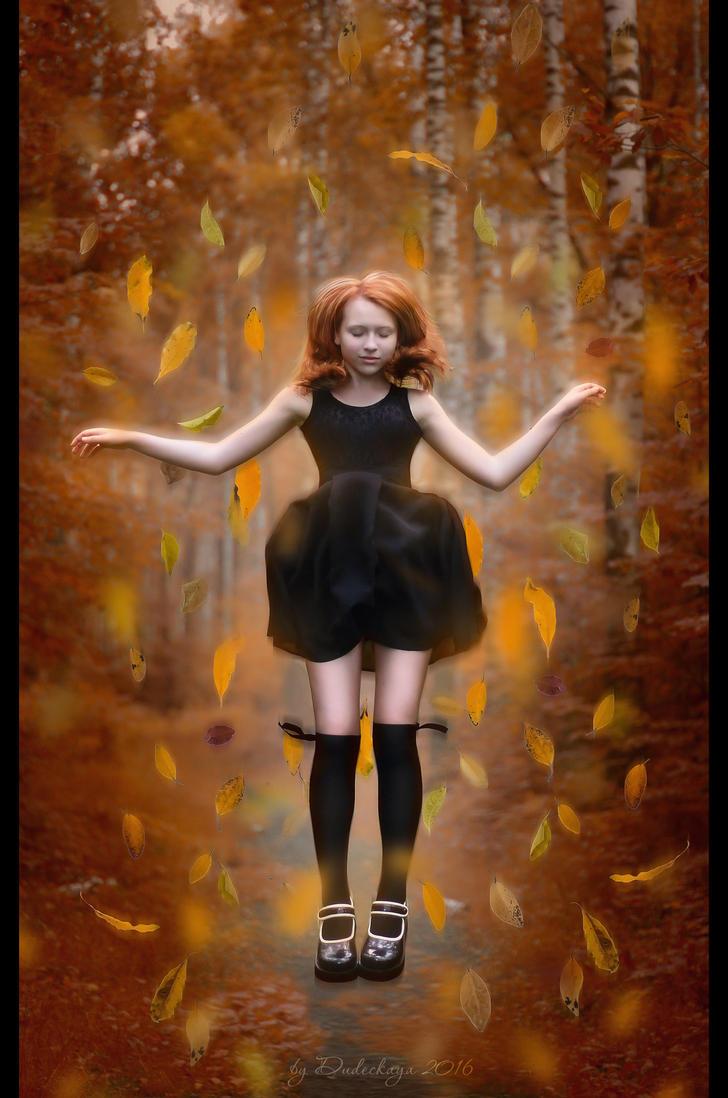 Autumn levitation by dudeckaya