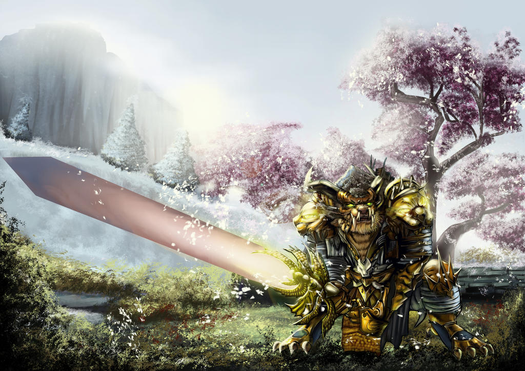 Commission - Warrior of Guild Wars II by mitgard-knight
