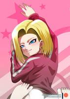 Dakimakura - Dragon ball super - Android 18 by mitgard-knight