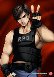 Dakimakura - Resident Evil - Leon Scott Kennedy by mitgard-knight