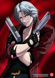 Dante DEVIL MAY CRY 5 Body pillow dakimakura by mitgard-knight