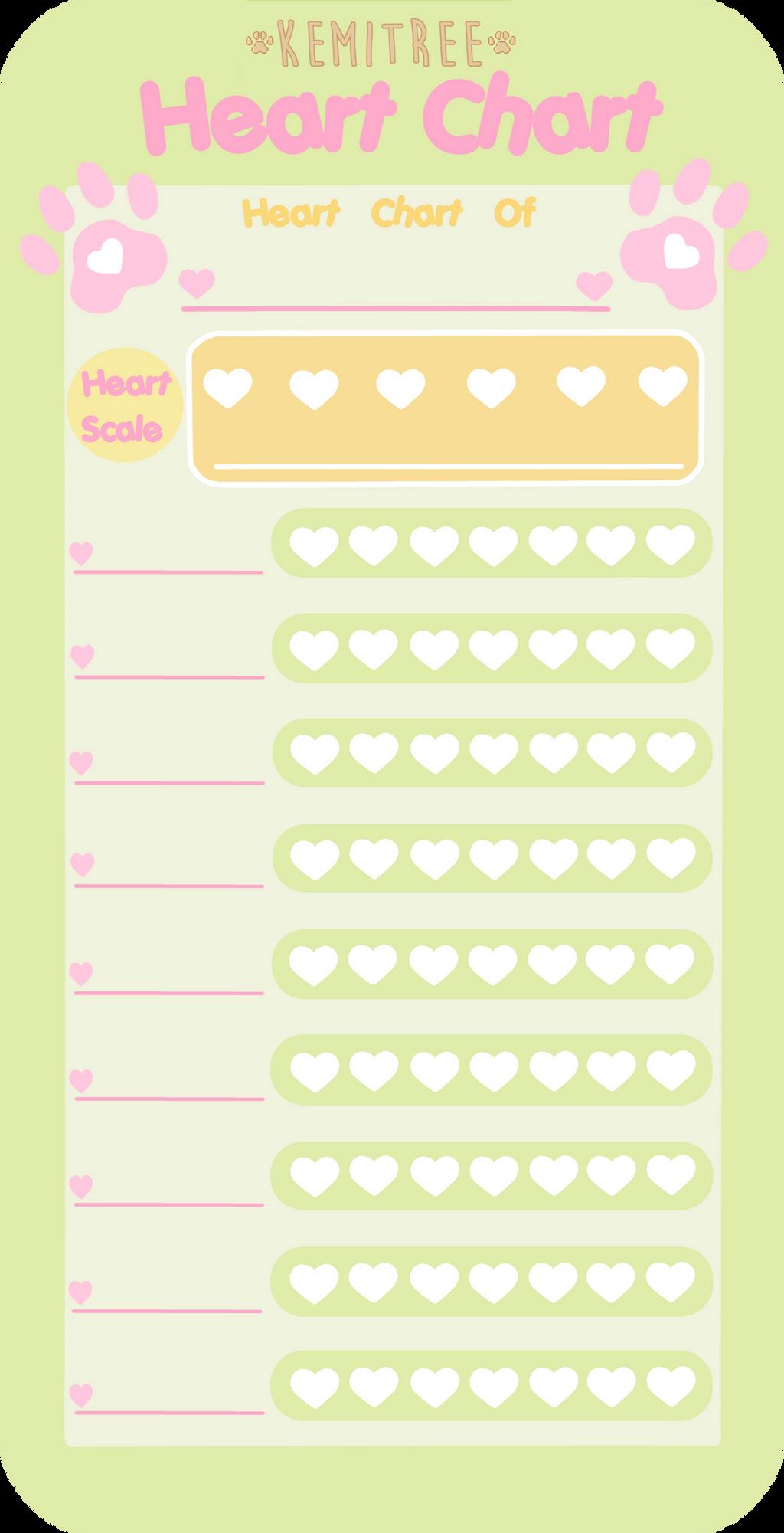 Kemitree Character Heart Chart Template By Shotafish On Deviantart