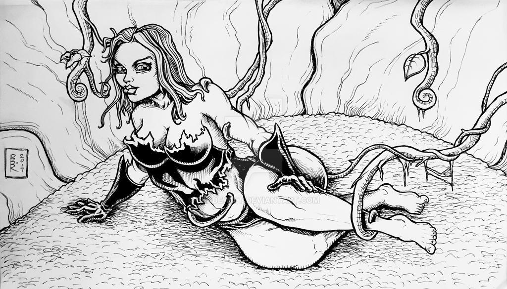 Poison Ivy sketch 12/7/17 by BenDewitt