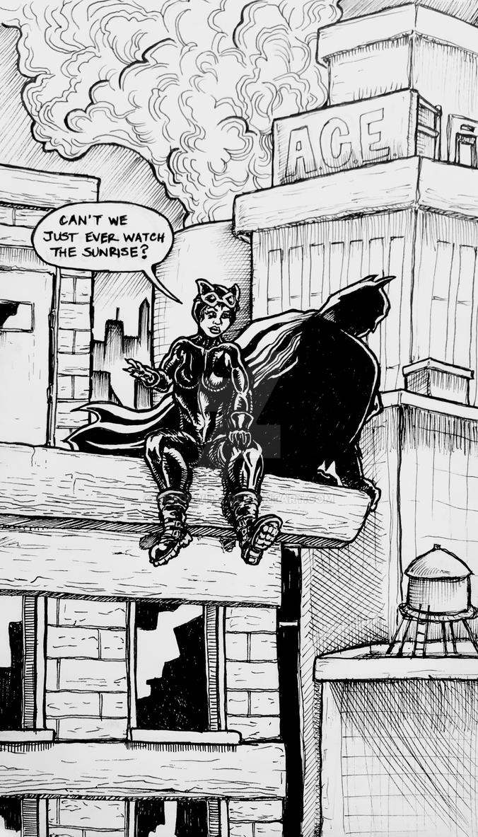 Bat  Cat sketch 12/9/17 by BenDewitt