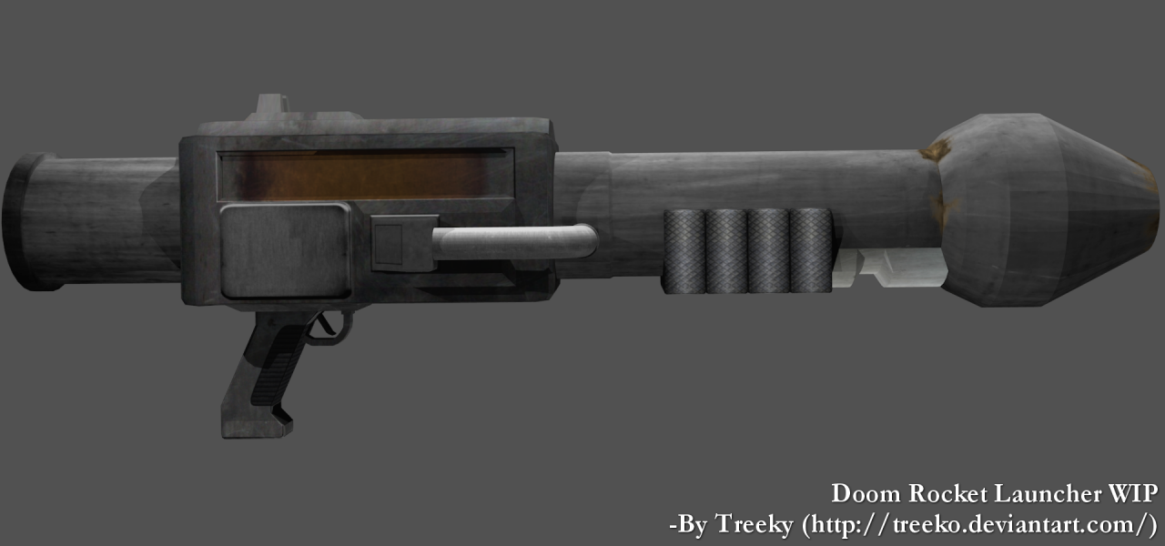 Doom Rocket Launcher 3D model almost not WIP by Treeko