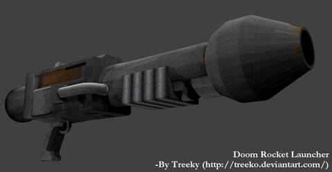 Doom Rocket Launcher 3D model view