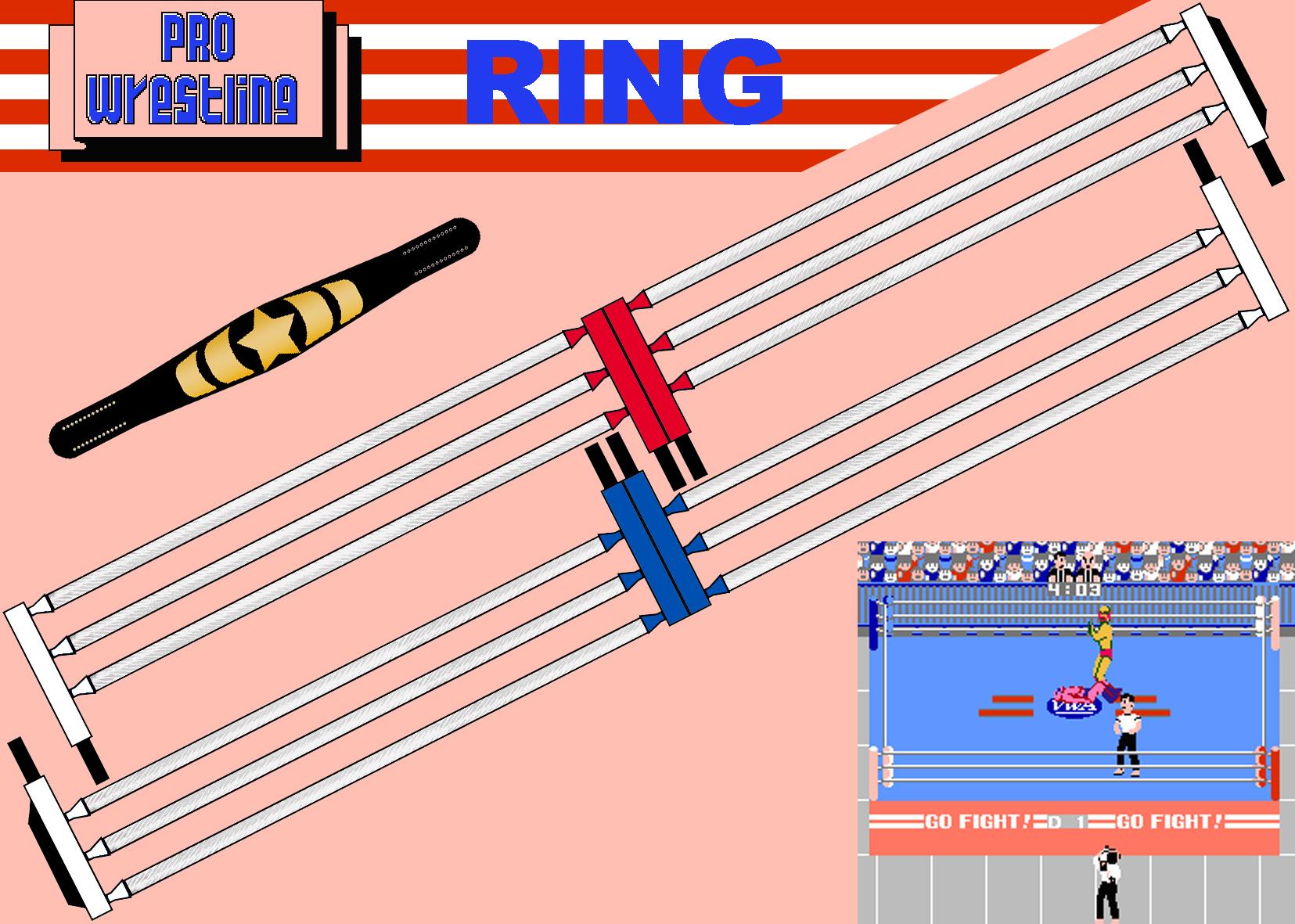 NES PRO WRESTLING RING-BELT 2 by Saikyo-Master