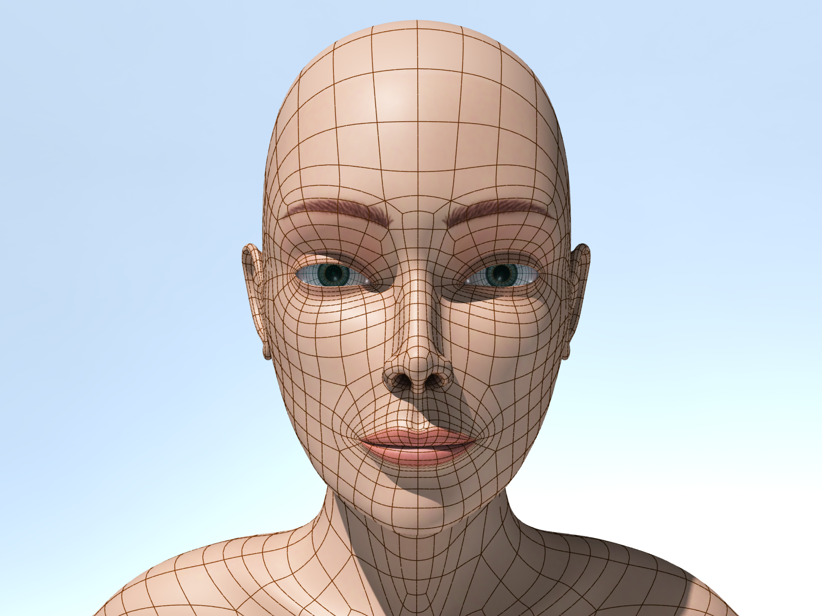3D Character Wireframe 4 By Ulisses3d On DeviantArt