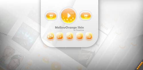 PowerAmp MellowOrange Skin by Karsakoff