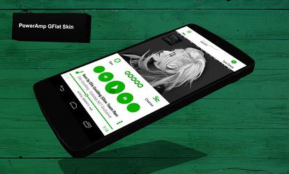 PowerAmp GFlat Skin by Karsakoff
