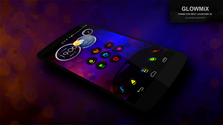 Next Launcher Theme GlowMix by Karsakoff