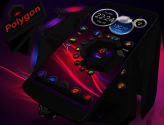 Next Launcher Theme Polygon by Karsakoff