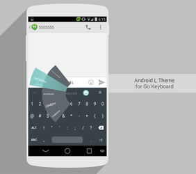 Android L Theme for Go Keyboard by Karsakoff