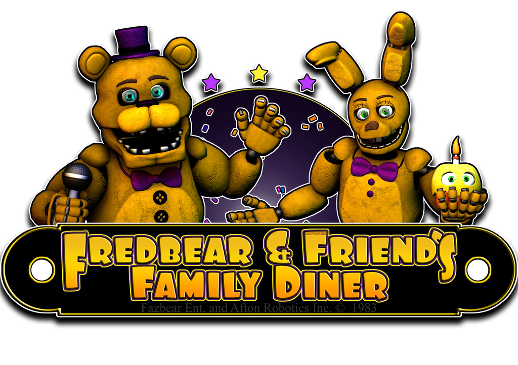 Fredbear and friends family diner logo v3 by cynfulentity for Family diner