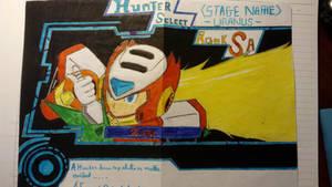 Mega Man X9 Concept: Charavter Select screen
