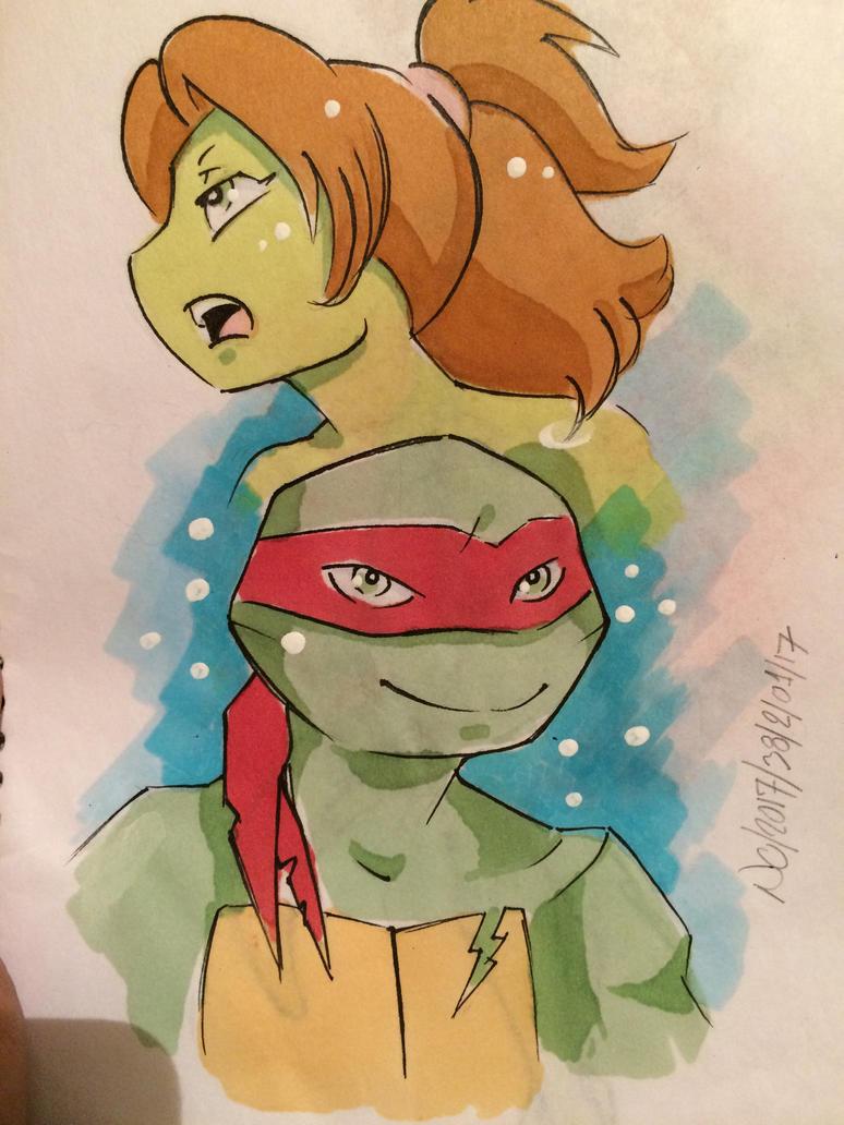 Raph and Mona by rainbowmermaid