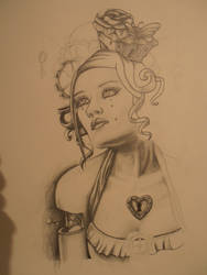 steampunk lady (unfinished work) by krinakii