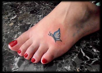 butterfly tattoo by krinakii
