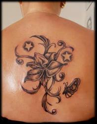 orchid tattoo by krinakii