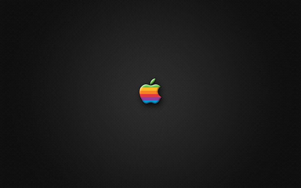 Apple Carbon Fiber Wallpaper by daveysaurus