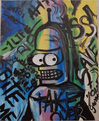 Bender-Basquiat by Just-a-Mermaid