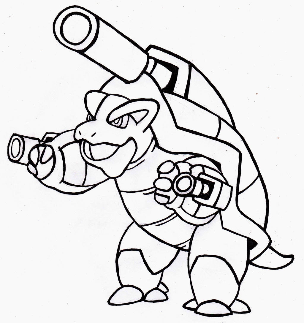 Pokemon Mega Blastoise - Free Colouring Pages