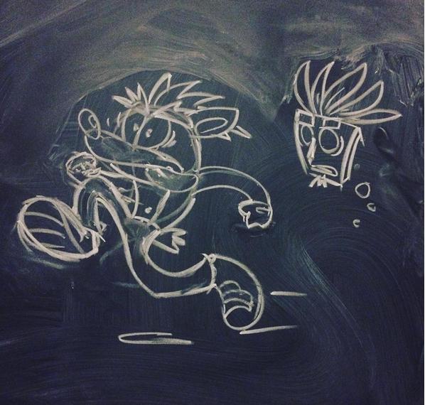 Chalk Crash by Invokingvajras