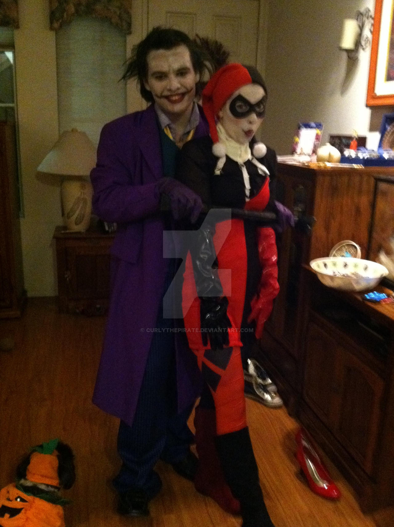 The Joker and Harley Quinn , Halloween Costume by CurlythePirate