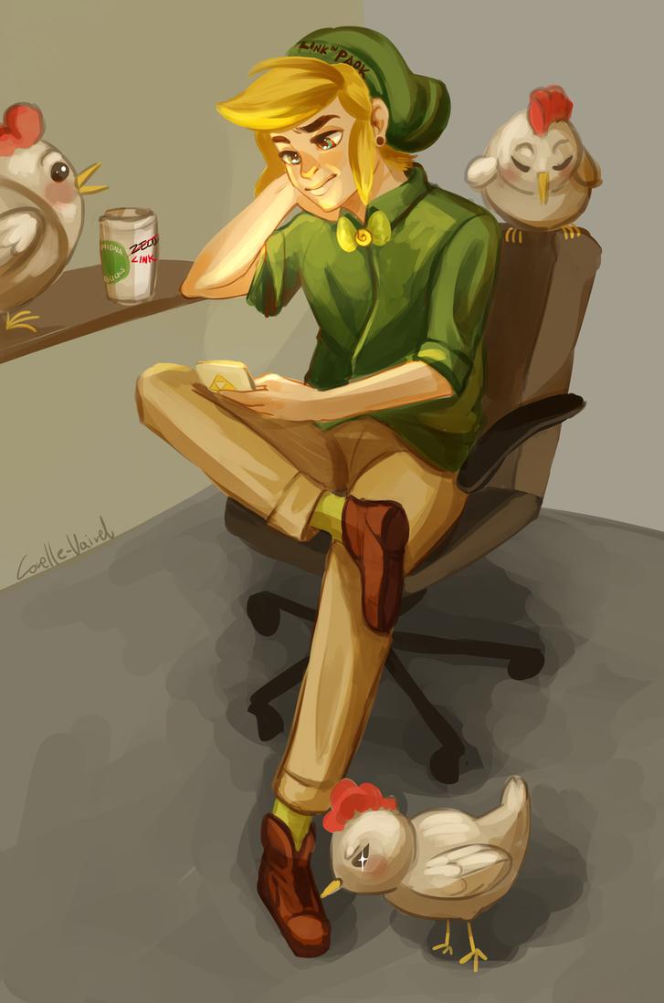 Character Design Challenge Zelda : Hipster link design character challenge by corelle