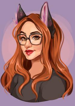 Cat girl portrait #1