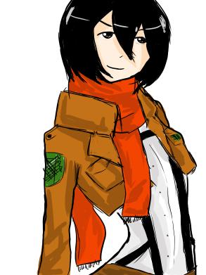 Mikasa from Shingeki no Kyojin by moondrop1XD