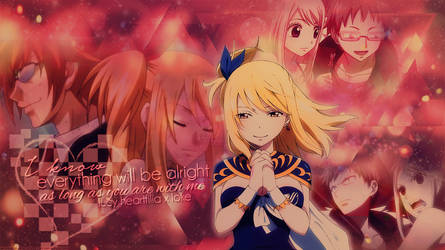 Desktop Wallpaper: Lucy Heartfilia x Loke (Lolu)