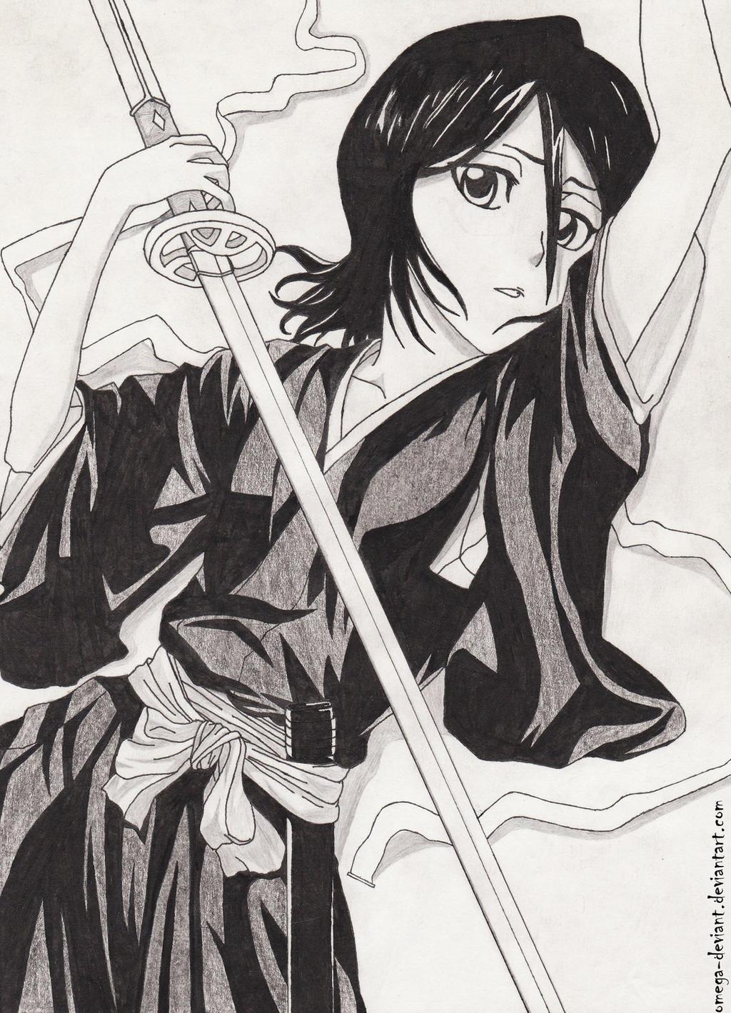 Rukia by omega-deviant
