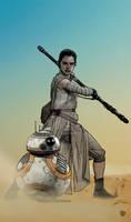 STAR WARS  REY Y BB-8.