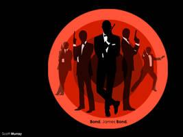 James Bond Montage Wallpaper by ScottMU