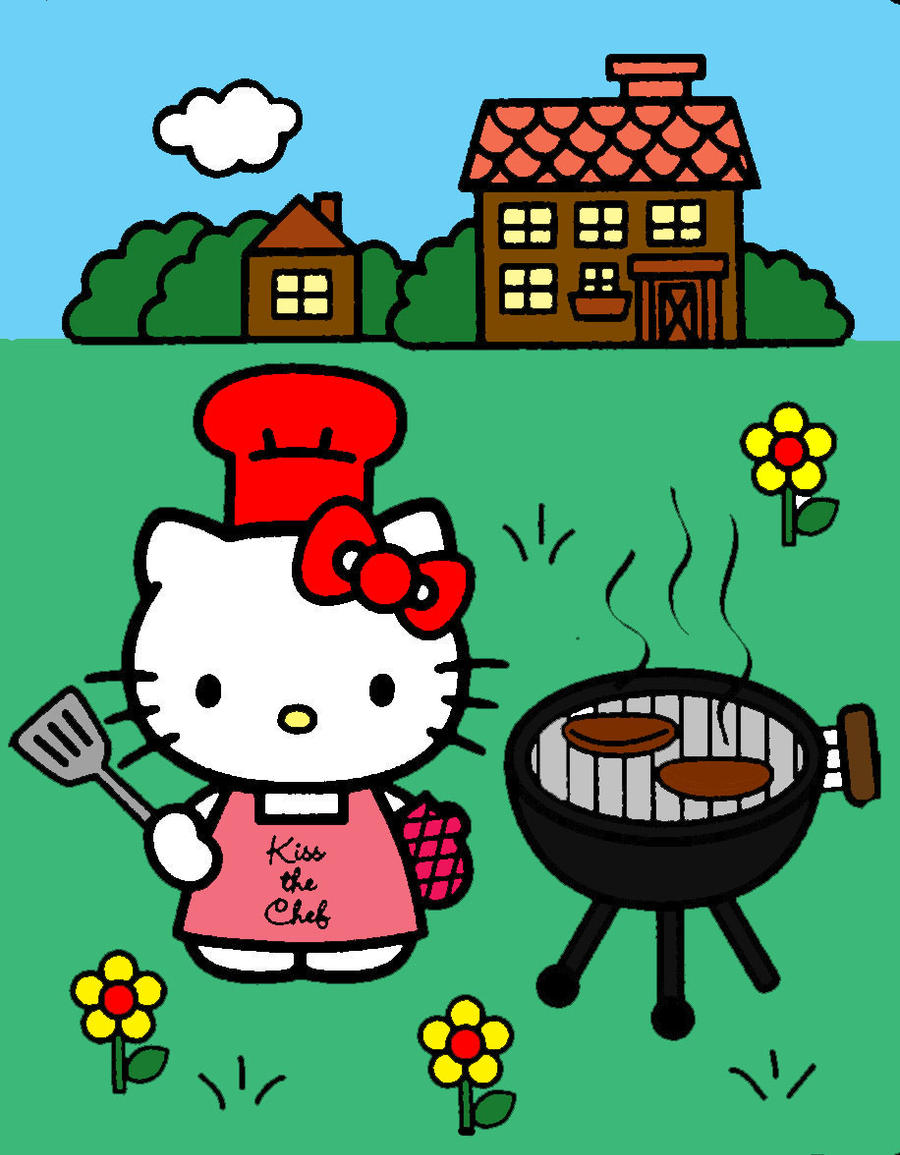 hello kitty grilling