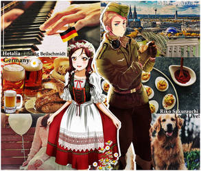Hetalia - Germany x Riko Sakurauchi(APH) Love Live by edline02