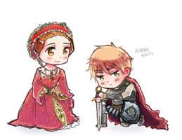Hetalia APH - England and Queen Elizabeth 1