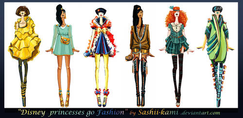 Disney princesses go fashion I