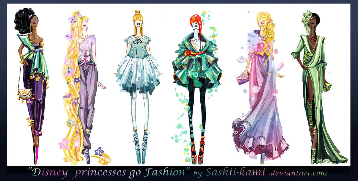 Disney Princesses Go Fashion II By Sashiiko-Anti On DeviantArt