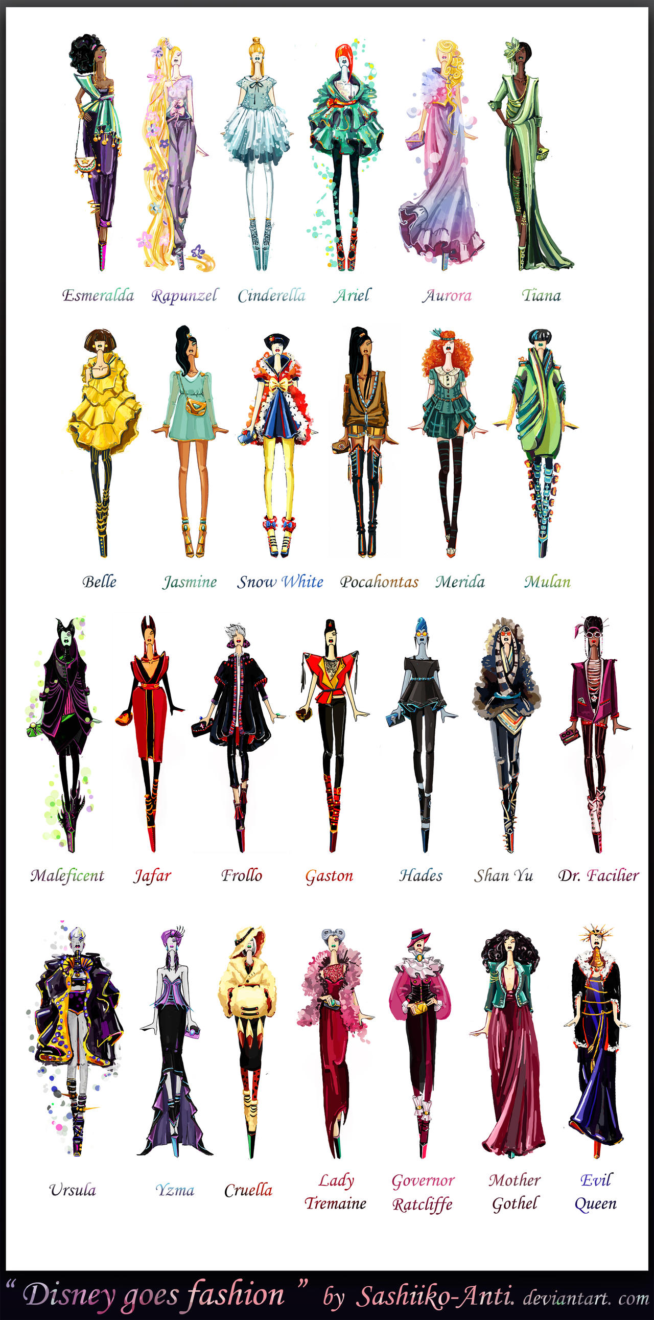 Disney goes fashion.Final by Sashiiko-Anti