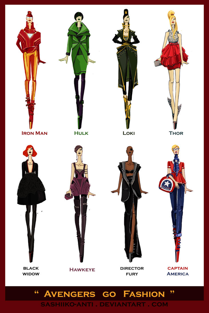 Elements Of Fashion Design : Avengers go fashion by sashiiko anti on deviantart