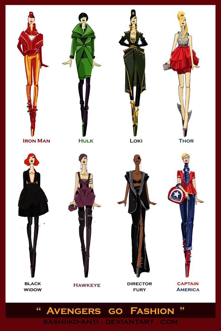 Avengers go Fashion by Sashiiko-Anti