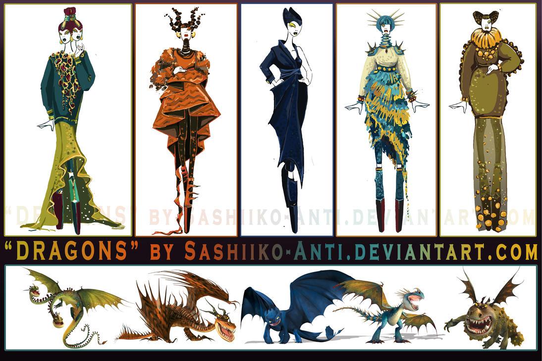 Dragons by SashiikoAnti on DeviantArt