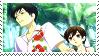 Kyouya and Haruhi stamp by Iloveyoukisshu