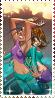 Irma and Taranee stamp by Iloveyoukisshu