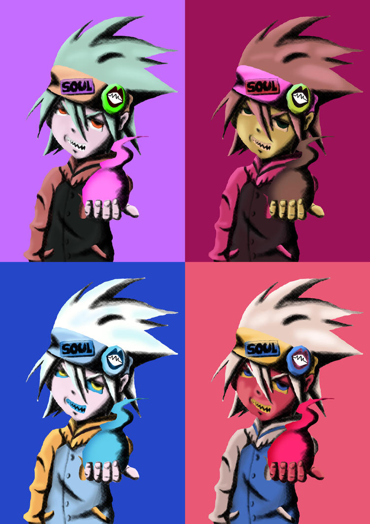 Soul Eater - Andy Warhol's Style by Iloveyoukisshu